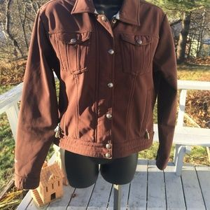 North Face womans jacket size small brown zip up